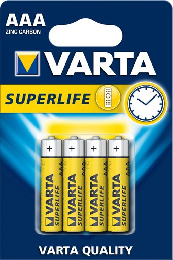 Батарейка VARTA SUPERLIFE MIGNO BLI 4