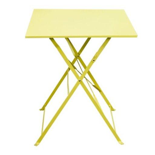 стіл Flora Origami квадратний жовтий 60х60х71 см