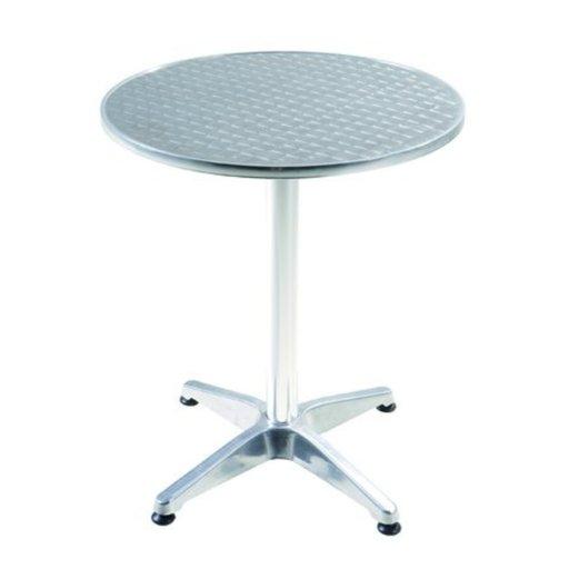 стіл Bistro круглий алюмінієвий 60 70см