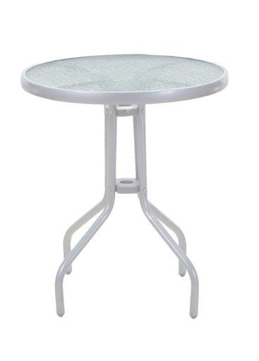 стіл Bistro круглий срібний 60х60х71 см