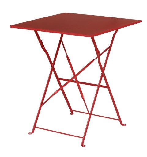 стіл Flora Origami квадратний червоний 60х60х71 см